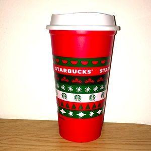 New Starbucks Xmas Holiday 2020 Reusable Cup 16oz